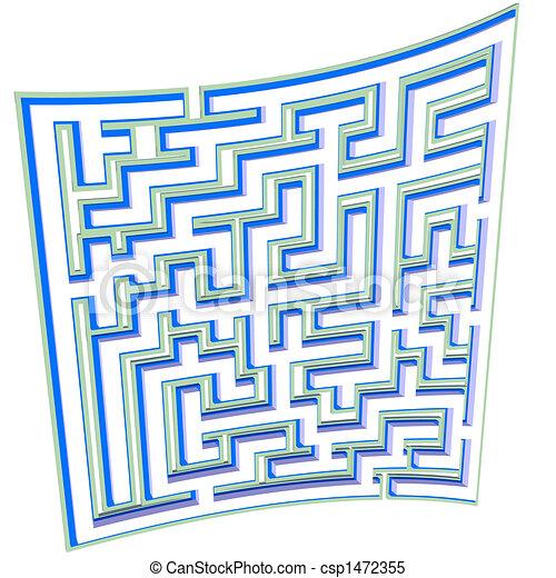Maze Plan Blueprint Page Puzzle - csp1472355