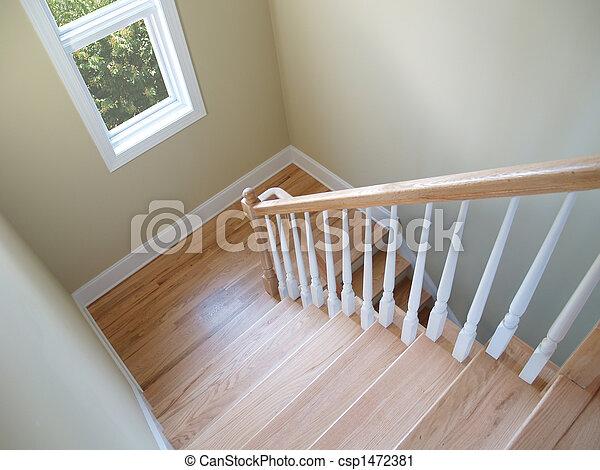 stock fotografie von treppenhaus fenster ansicht unten a h lzern csp1472381 suchen. Black Bedroom Furniture Sets. Home Design Ideas