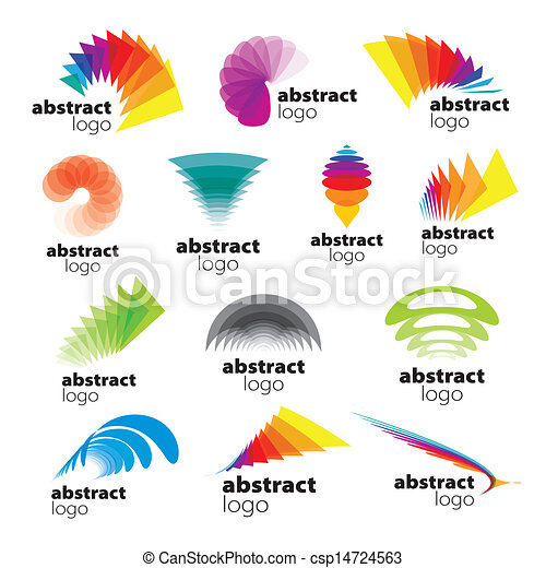 clip art vector of vector collection of abstract logos