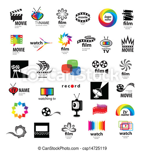vector clip art of collection of logos tv  video  photo record clip art for powerpoint record clipart images