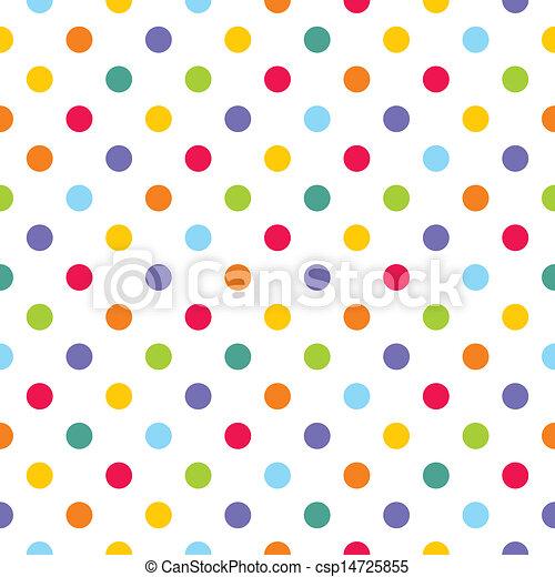 Vector colorful polka dots pattern - csp14725855