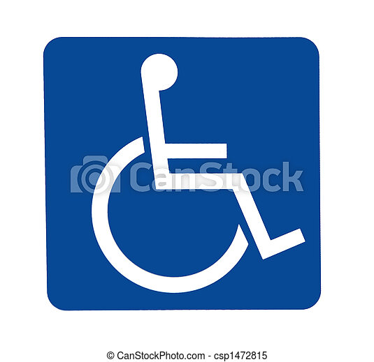 handicapped sign - csp1472815