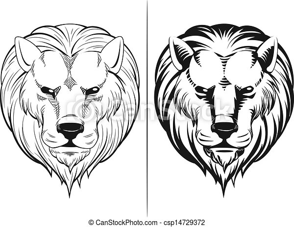 Illustration of sketch of lion head a vector sketch of lion head