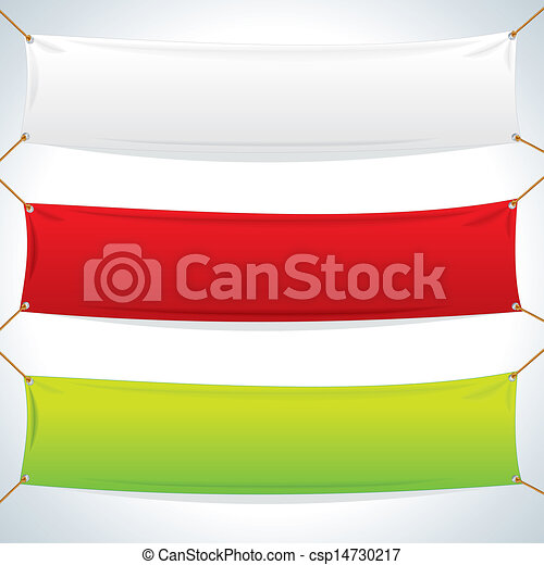 Illustration of Textile Banners Template - csp14730217