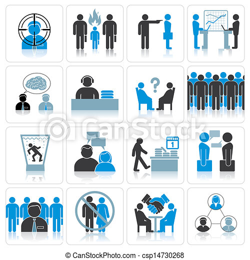 Office Business Icons. Management and Relationship - csp14730268