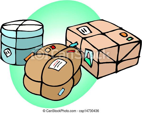 Vectors Of Parcel Boxes Vector Parcel Boxes Vector
