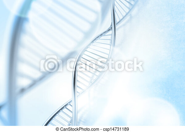 a dna in medical  background - csp14731189