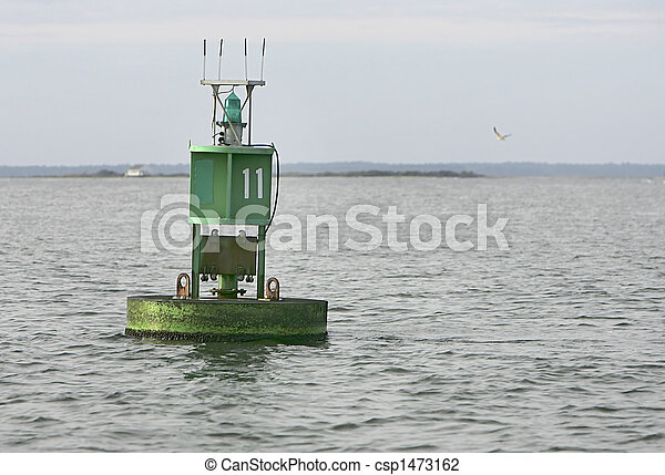 nautical buoy in the water - csp1473162