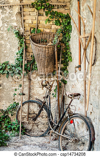 Antique bicycle - csp14734208