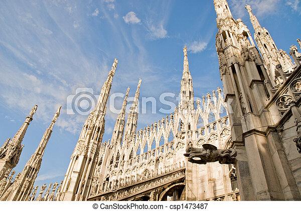 milan cathedral - csp1473487