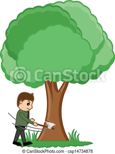vectors illustration of man cutting tree vector concept Riding Lawn Mowers free lawn mowing clipart