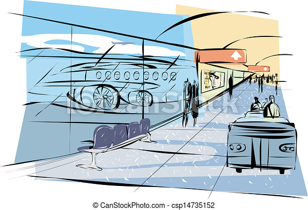 Stock Illustrations of Airport Terminal csp14735152 ...