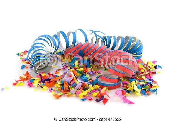 Confetti for carnival - csp1473532