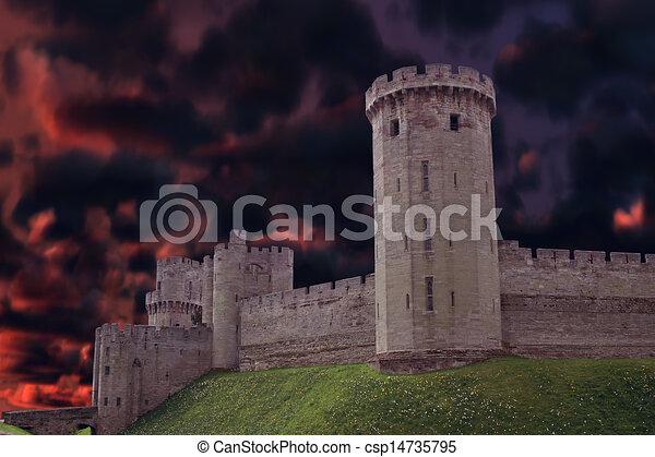 Tall Castle Drawing Dark Castle Tall Dark Castle