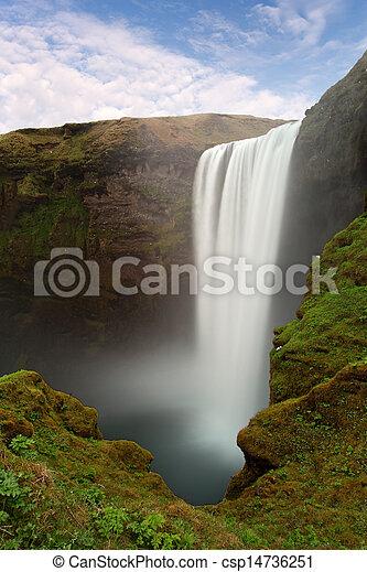 Iceland waterfall - Skogafoss - csp14736251