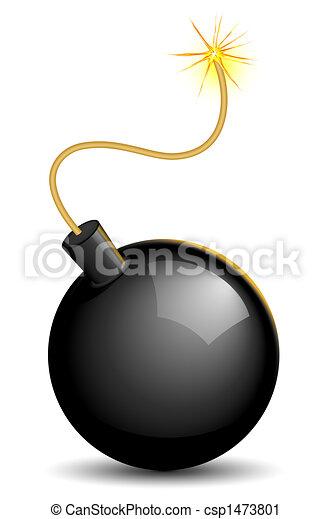 Lighted bomb - csp1473801