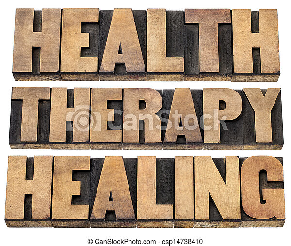 health, therapy and healing words - csp14738410