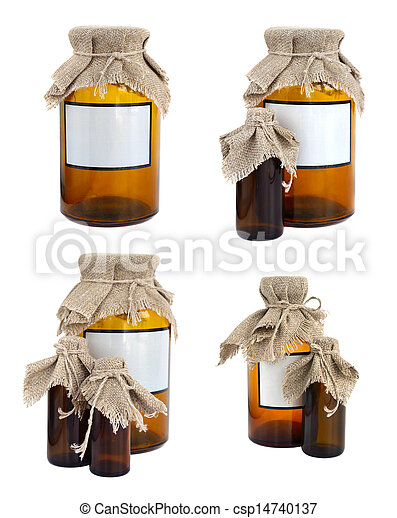 Pharmaceutical ware with a linen cover. - csp14740137