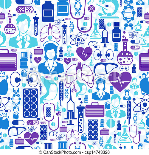 Vector Illustration Of Medical And Health Care Seamless