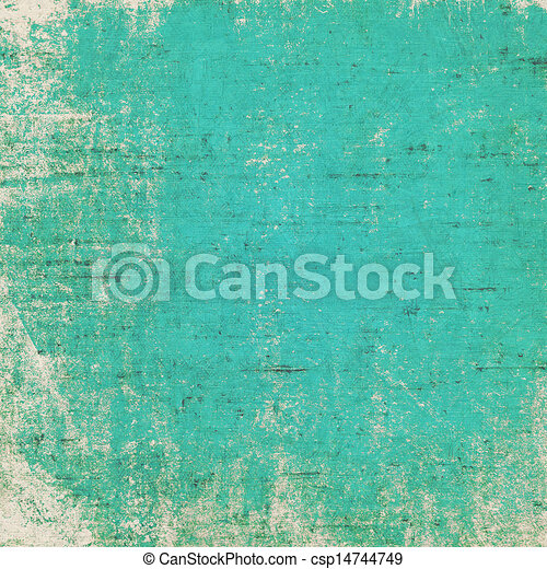 Old grunge background with delicate abstract texture - csp14744749