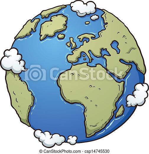 有关行星, 地球 - 卡通漫画