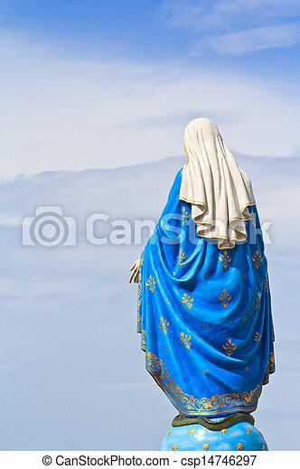 Virgin Mary Statue in Roman Catholic Church - csp14746297