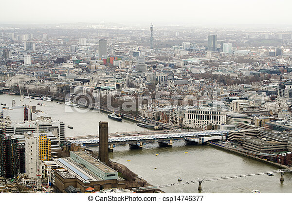 Bridges over the River Thames, aeri - csp14746377