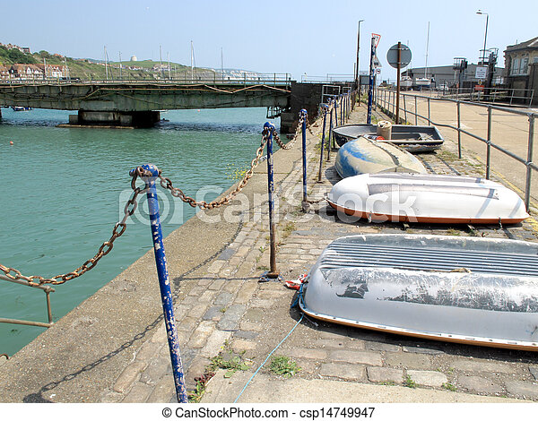 Old boats and bridges - csp14749947