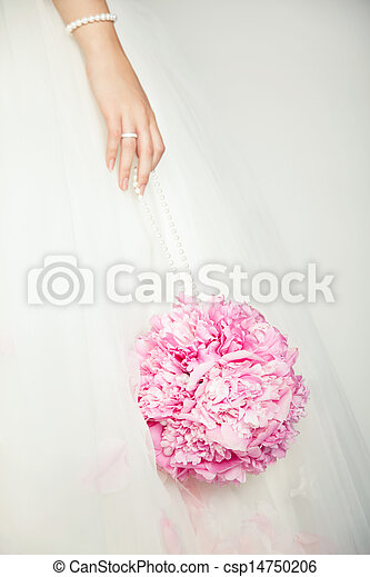 Wedding bouquet in hands of bride - csp14750206