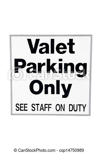 Valet Parking Only - csp14750989