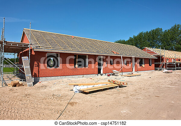 New residential home house construction - csp14751182