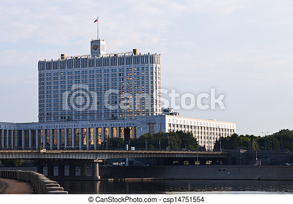 Russian White House - government building in Moscow - csp14751554