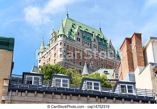 Chateau Frontenac Hotel in Quebec City, Canada - csp14752319