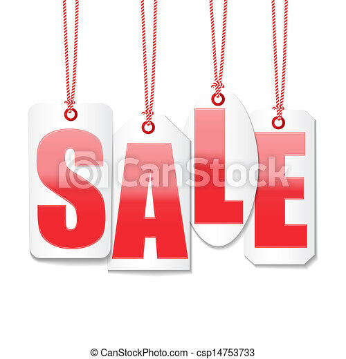 sale labels price tag design set vector - csp14753733
