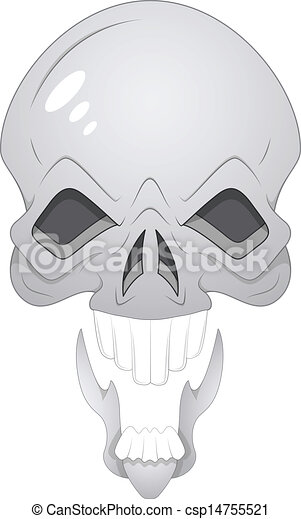 Skull Illustration - csp14755521