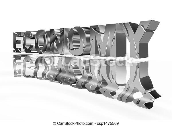 Broken economy with reflection - csp1475569