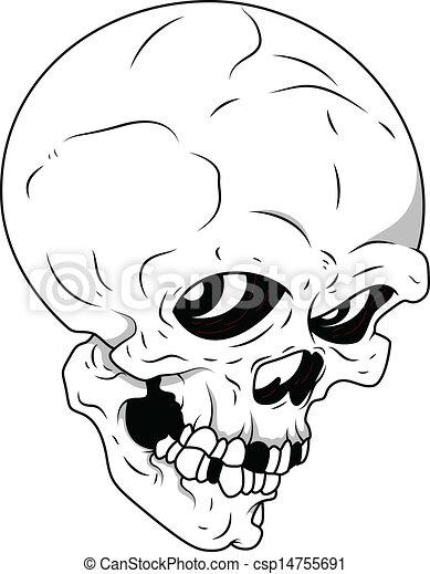 EPS Vectors of Royalty Free Vector - Skull - Drawing Art of ...