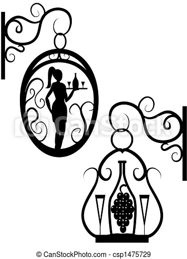 rue  enseigne royalty free vector image csp1475729 cafeteria clipart black and white cafétéria clipart