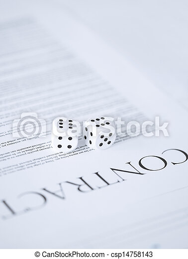 contract paper with gambling dices - csp14758143