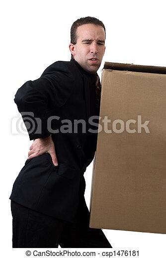 Businessman With Injured Back - csp1476181