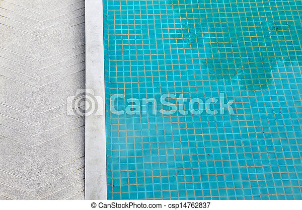 Swimming Pool Top View with place for your text