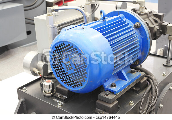 powerful electric motors for modern industrial equipment - csp14764445
