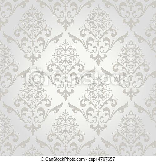 Seamless Damask Pattern - csp14767657
