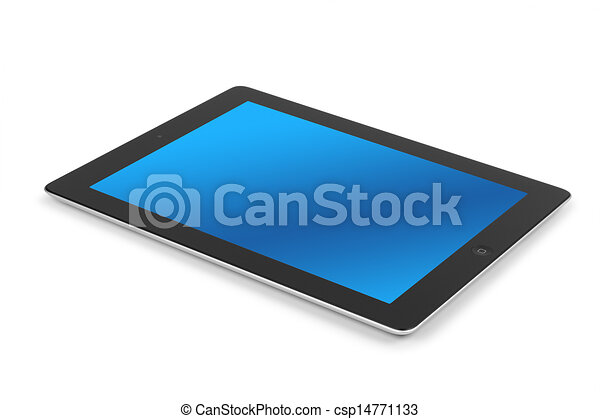Tablet computer isolated - csp14771133