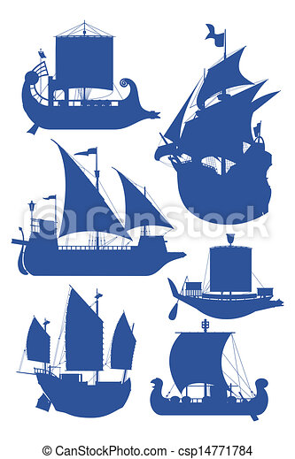 navios, velejando - csp14771784