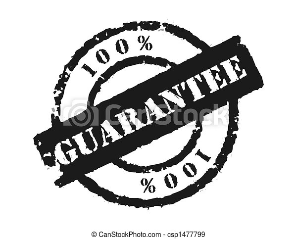 Stamp \'100% Guarantee\' - csp1477799