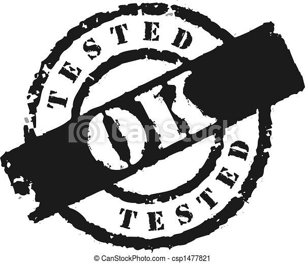 Stamp \'Tested OK\' - csp1477821