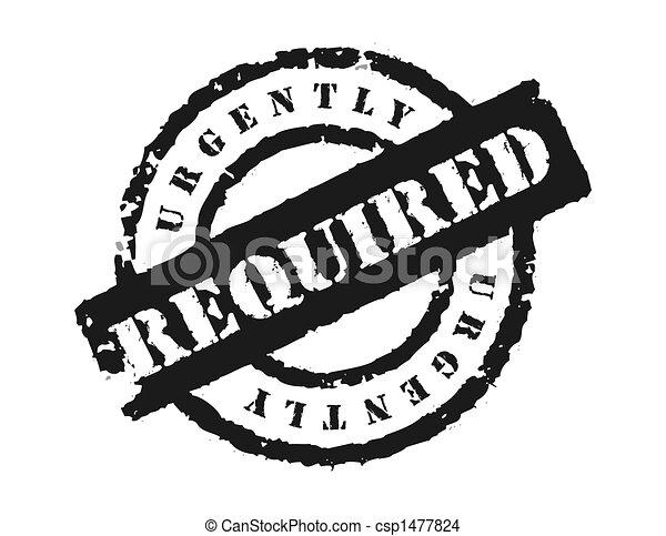 Stamp \'Urgently Required - csp1477824