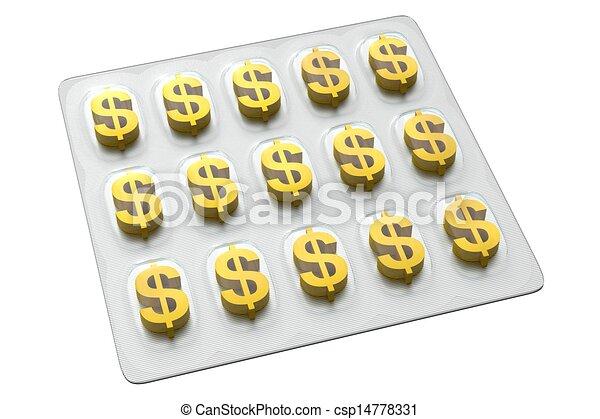 Pharmaceutical Business - Dollar - csp14778331