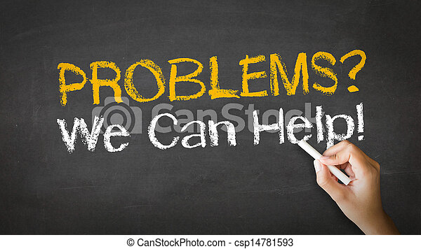 Problems we can help Chalk Illustration - csp14781593